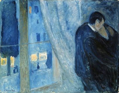Edvard_Munch_-_Kiss_by_the_window_(1892) rid